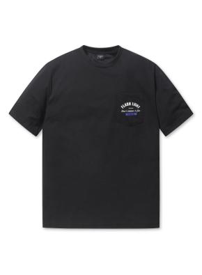남여공용 포켓 5부 티셔츠 _ (BK)
