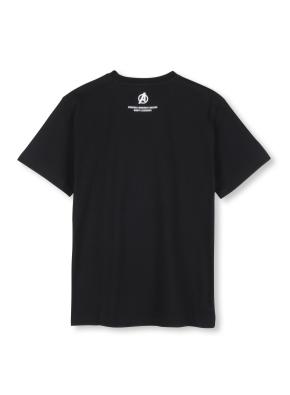 남여공용 마블 콜라보 로고 티셔츠 _ (BK)