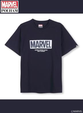 남여공용 마블 콜라보 로고 티셔츠 _ (NV)