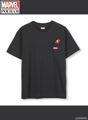 남여공용 마블 콜라보 포켓 그래픽 티셔츠 _ (DGR)