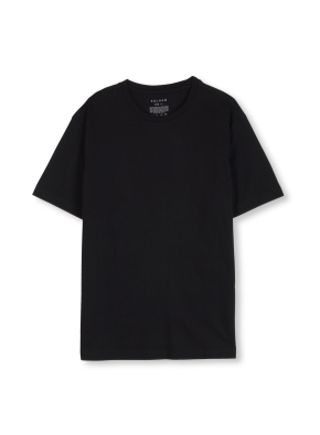 남여공용 라운드 베이직 싱글 티셔츠 _ (BK)
