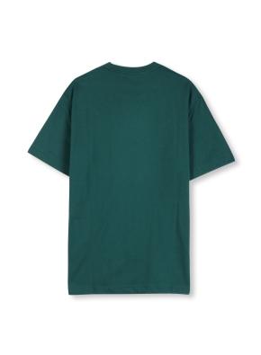 남여공용 라운드 베이직 싱글 티셔츠 _ (GN)