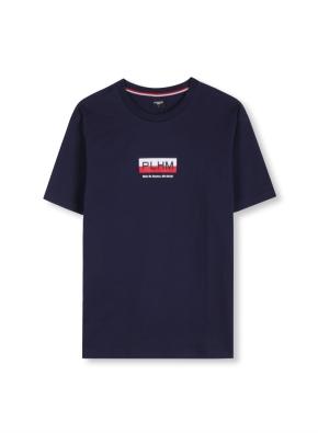 남여공용 로고 그래픽 티셔츠 _ (NV)