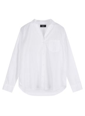 여성 포플린 솔리드 셔츠 _ (WT)