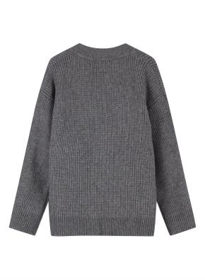 여성 오버핏 하찌 조직 스웨터 가디건 _ (MGR)