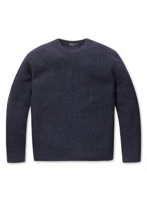 하찌조직 크루넥 스웨터
