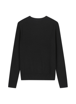 여성 캐시블랜드 크루넥 스웨터 _ (BK)
