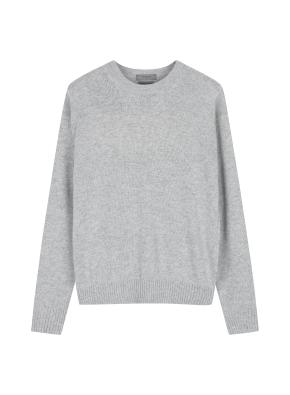 여성 캐시블랜드 크루넥 스웨터 _ (LGR)
