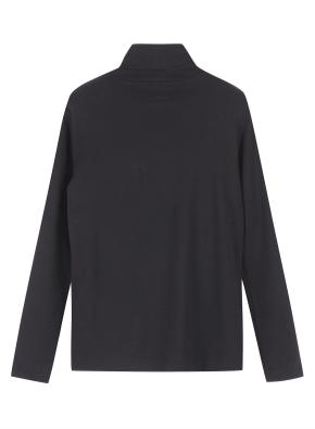 여성 베이직 터틀넥 티셔츠 _ (BK)