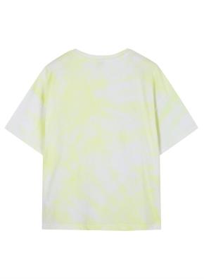 여성 물나염 반팔 티셔츠