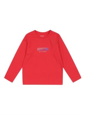 키즈 레터링 그래픽 티셔츠 _ (RD)