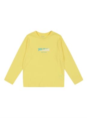 키즈 레터링 그래픽 티셔츠 _ (YE)