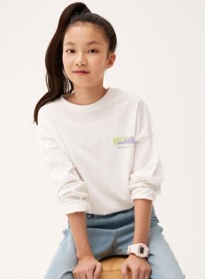 여아 드롭핏 롱기장 티셔츠 _ (WT)