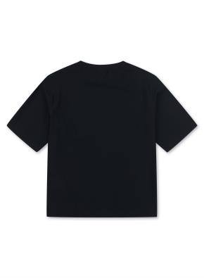 키즈 액티브 메쉬 반팔 티셔츠 _ (BK)