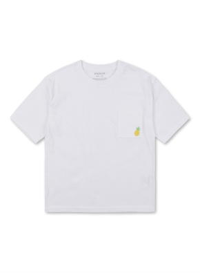 미니자수 포켓 반팔 티셔츠
