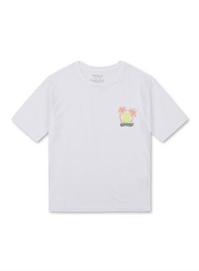하와이 그래픽 반팔 티셔츠