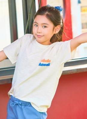 슬럽 하와이 그래픽 반팔 티셔츠