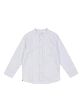 코튼린넨 밴드카라 셔츠