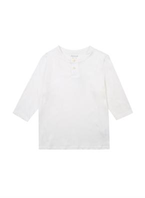 헨리넥 솔리드 7부 티셔츠