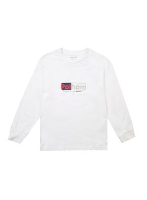 레터링 그래픽 긴팔 티셔츠