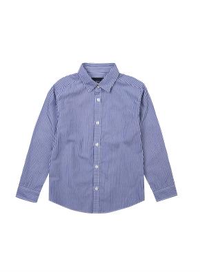 포플린 기본카라 패턴 셔츠