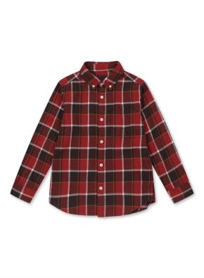 플란넬 체크 셔츠