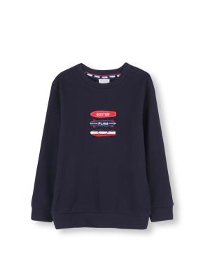 시그니쳐 패밀리 맨투맨 티셔츠