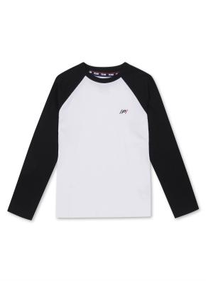 키즈 라글란 싱글 티셔츠 _ (BK)