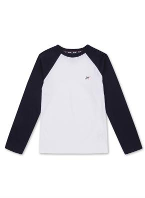 키즈 라글란 싱글 티셔츠 _ (NV)