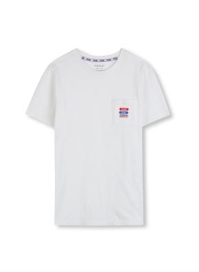 키즈 시그니쳐 포켓 반팔 티셔츠 _ (WT)