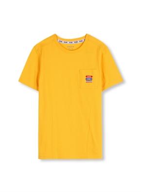 키즈 시그니쳐 포켓 반팔 티셔츠 _ (YE)