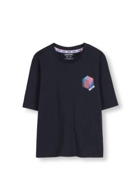 키즈 7부 소매 그래픽 티셔츠 _ (CH)