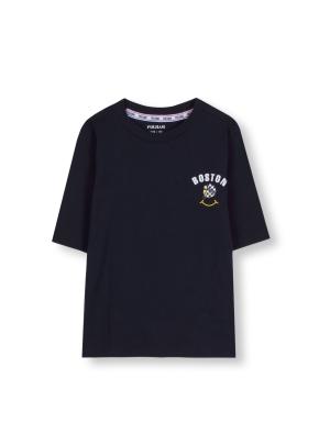 키즈 7부 소매 그래픽 티셔츠 _ (NV)