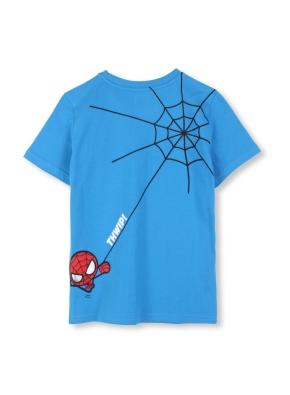 키즈 마블 콜라보 포켓 그래픽 티셔츠 _ (BL)