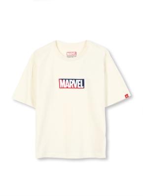 키즈 마블 콜라보 로고 티셔츠 _ (CR)