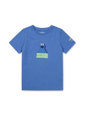 키즈 세서미 콜라보 그래픽 티셔츠1 _ (BL)