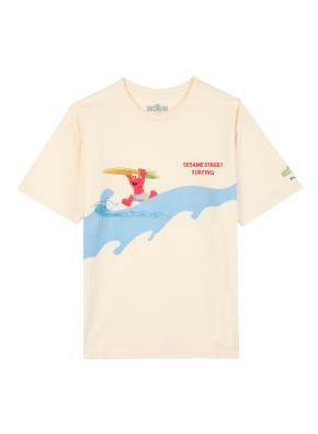 키즈 세서미 콜라보 그래픽 티셔츠5 _ (CR)