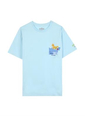 키즈 세서미 콜라보 그래픽 티셔츠5 _ (SBL)