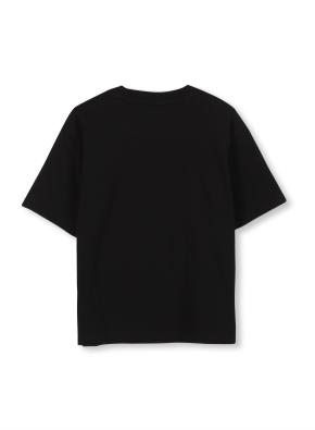 키즈 마블 콜라보 로고 티셔츠 _ (BK)