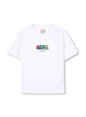 키즈 마블 콜라보 로고 티셔츠 _ (WT)