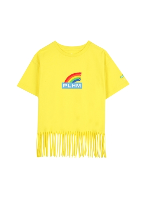 키즈 여아 세서미 콜라보 티셔츠1 _ (YE)