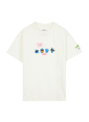 키즈 여아 세서미 콜라보 티셔츠2 _ (WT)