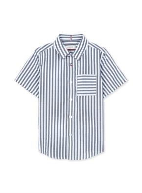 시어서커 스트라이프 반팔 셔츠