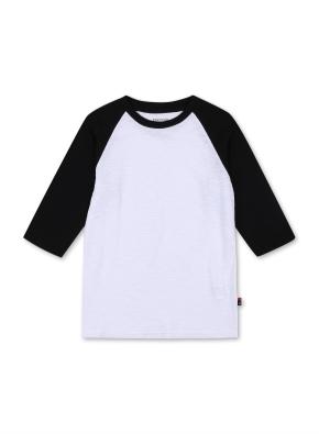 키즈 7부 라글란 티셔츠 _ (BK)