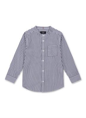 키즈 포플린 스트라이프 셔츠 _ (NV)