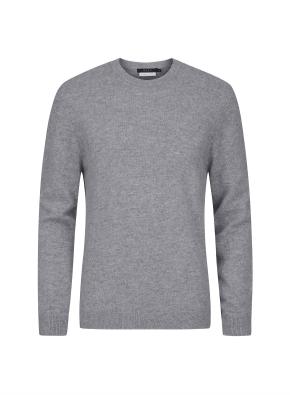 캐시미어 100% 라운드 스웨터 (GR)