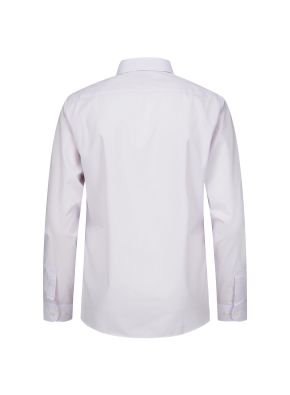 솔리드 버튼 카라 드레스 셔츠 (PK)