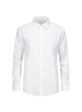 솔리드 버튼 카라 드레스 셔츠 (WT)