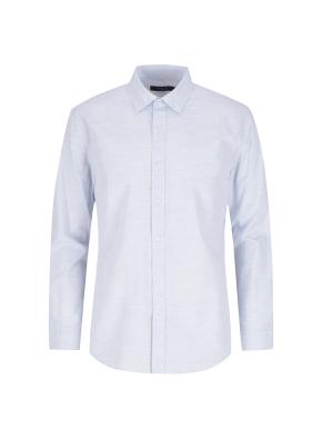 순면 멜란지 솔리드 캐주얼셔츠 (BL)