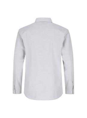 순면 멜란지 솔리드 캐주얼셔츠 (GR)